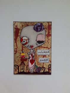 Sassy Monster Crafts: Wicked Sweet ATC using a digital stamp from The Octopode Factory