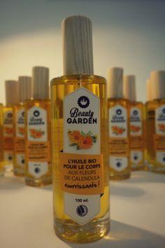 Huile bio aux #fleurs de #calendula ! De l'huile végétale bio, des fleurs, des huiles essentielles pour parfumer ... et c'est tout ! :) #naturel #bio #cosmetics #BeautyGarden
