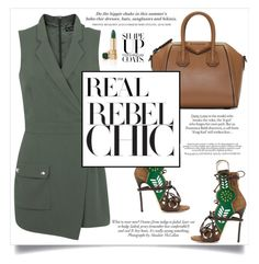 """Page #64 : Rebel Chic in Khaki"" by bcnora ❤ liked on Polyvore featuring ANNA, Givenchy, Dsquared2, Miss Selfridge, ASOS and H&M"