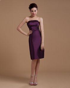 Strapless Short Mini Taffeta Party Dress