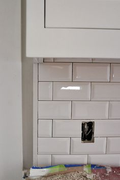 Beveled Subway Tile Backsplash I Like This It S Simple And Available At Home