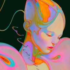 Chilean visual artist Christian Orrillo creates gorgeous surreal artworks using powerful color palettes. Pretty Art, Cute Art, Psychedelic Art, Aesthetic Art, Collage Art, Art Inspo, Painting & Drawing, Art Reference, Character Art