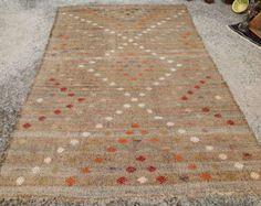6x9 area rug Multi colored Kilim rug Diamond design by PocoVintage