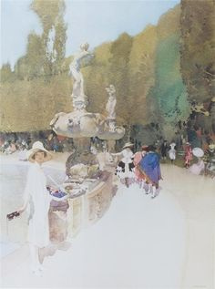 William Russell Flint - this watercolor by Flint has always inspired me...different but totally effective design. http://richardburkejones.com/