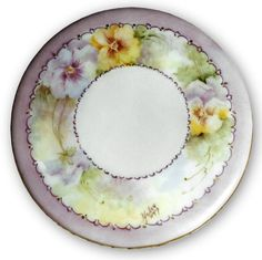 Pansy Plate