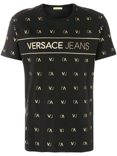 Versace Jeans Vj Logo Print T-shirt Versace Jeans, Versace Hoodie, Knit Shirt, T Shirt And Jeans, Man Jeans, Hang Ten, Cool Outfits For Men, Boy Outfits, Boys Shirts