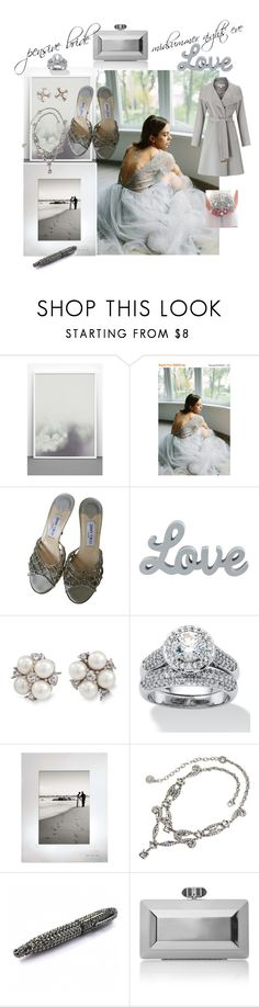 """""""pensive grey"""" by caroline-buster-brown ❤ liked on Polyvore featuring One Must Dash, Jimmy Choo, Carolee, Palm Beach Jewelry, Kate Spade, Sweet Romance, Judith Leiber, Miss Selfridge and summerwedding"""