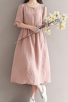 Женская свободная подгонка над плюс размер льняное платье длинная туника беременных для беременных   Одежда, обувь и аксессуары, Одежда для женщин, Платья   eBay!