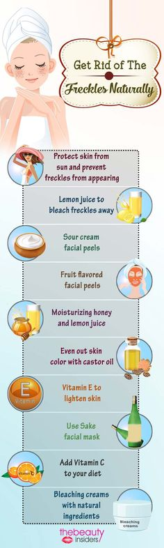 Get Rid of The Freckles Naturally