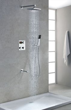 Thinking About Rainfall Showerheads? Read Reasons Why It's Time To Stop! ~ http://walkinshowers.org/6-incredible-rainfall-shower-head-examples.html