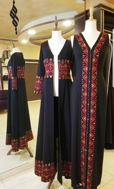 Thob-inspired dresses for women (thoub/thobe/thawb) Batik Fashion, Abaya Fashion, Muslim Fashion, Modest Fashion, Fashion Dresses, Afghan Clothes, Afghan Dresses, Mode Abaya, Mode Hijab