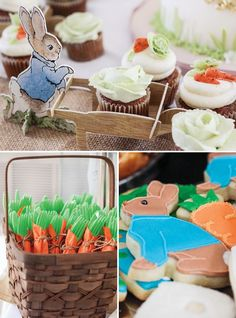Adorable Peter Rabbit First Birthday Garden Party // Hostess with the Mostess®