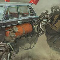 Rally. Moskvich. by Daniyar Kdyrov on ArtStation.