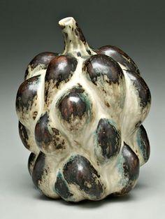 """Axel Salto (Danish, 1889-1961), Royal Copenhagen , Glaze Decorated Stoneware """"Budding"""" Vase."""