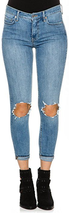 8d99a56cc237 New Free People Women s High Rise Busted Skinny Denim Denim at Amazon  Women s Jeans store