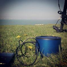 Cycle adventures #Minirig #beach #bike