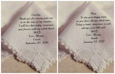 Mother of BRIDE - Mother of GROOM Gifts - Wedding Handkerchief - PRINTED Hankies, Ladies Hankies, Today a Bride, Gifts for Her