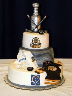 Boston Bruins Stanley Cup Cake!  This may be as close as the Bruins get to the cup this year.