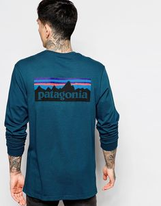 "T-shirt by Patagonia Organic cotton Soft-touch jersey Crew neck Signature branding Regular fit - true to size Machine wash 100% Cotton Our model wears a size Medium and is 185.5cm/6'1"" tall"