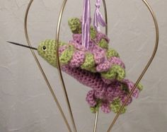 Amigurumi Hummingbird Pattern : Ruby Throated Hummingbird - Micro Amigurumi Miniature ...