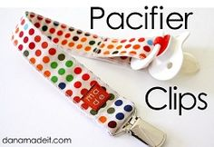 Tutorial: Make a pacifier clip · Sewing | CraftGossip.com
