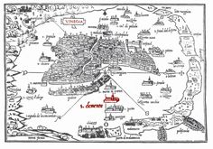 This Day in History: Mar 25, 421: Venice is founded at twelve o'clock noon http://dingeengoete.blogspot.com/ http://europeforvisitors.com/venice/images/san_clemente_palace_map_large_565k.gif