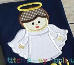 Angel Boy 2 Applique - 4 Sizes! | What's New | Machine Embroidery Designs | SWAKembroidery.com Stitch Away Applique