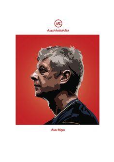 Arsene Wenger Arsenal Print by KieranCarrollDesign