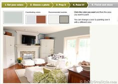 A New Color Tool To Play With from Colortopia. A brand new color tool on the site that is FUN, FUN, FUN to use. It is called – Color My Room.  It takes the guesswork out of picking a paint color for any room in your home by letting you see how the color will actually look in the room.