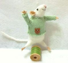 Pickles Is A Mischievous Needle Felted Mouse by WildWoodHollow