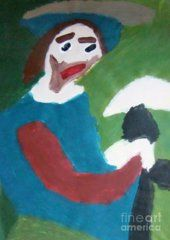 Poster featuring the painting Man With A Feathered Hat 2014 by Patrick Francis