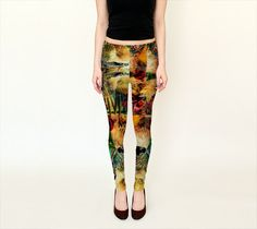 leggings yoga pant tights digital art print by BohemianSilkScarves