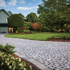 With seven unique shapes, Belgian Cobble® creates a cobbled look with a random pattern and can be used as a permeable system with the proper base. Block Paving Driveway, Driveway Design, Brick Pavers, Driveways, Walkways, Belgard Pavers, Outside Patio, House Plant Care, Outdoor Living