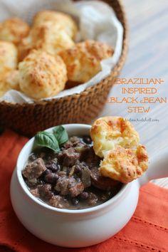 Brazilian-inspired Black Bean Stew | ANutinaNutshell.com