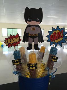 Centro de Mesa Batman con marsmallows