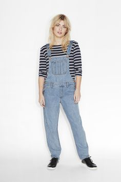 Monki Image 2 of Lisa dungarees in Blue