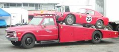 Vintage Drag Car Haulers or Tow Rigs. - The Supercar Registry Tow Truck, Trucks, Vintage Cars, Antique Cars, Toy Hauler Trailers, Car Carrier, Car Magazine, Drag Cars, Drag Racing