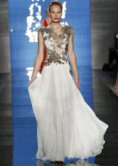 Awesome wedding dress. Reem Acra .