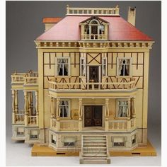 Image detail for -... DOLL HOUSE WITH ELEVATOR. This grand German doll house has s