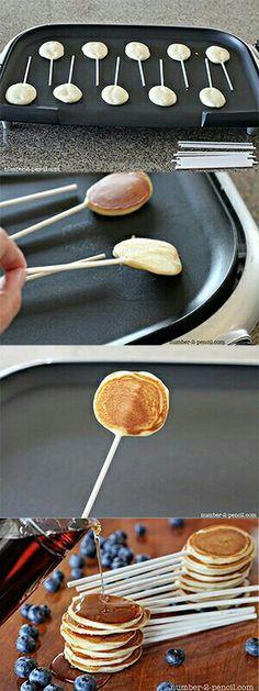 Des sucettes de pancakes !