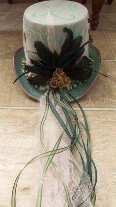 Oscar's Friend  Absinth Steampunk Hat by RavensongIndustries, $64.00