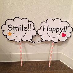 Happy&Smileフォトプロップス ふきだし型