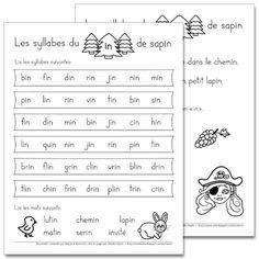 Fichier PDF téléchargeable En noir et blanc 2 pages Les élèves doivent d'abord lire les syllabes du ''in'' données. Ensuite, ils lisent les 6 mots puis les phrases. Ils doivent également colorier les objets qui contiennent le son ''in'', soit le poussin, les raisins et le pinceau. Vous pouvez les utiliser comme feuilles de leçons à faire la maison.
