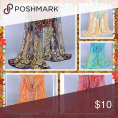 🆕 Peacock chiffon scarf soft shawl warp Brand new in package without tag Very beautiful and stylish Accessories Scarves & Wraps
