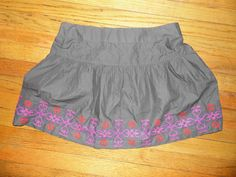 American Eagle Outfitter skirt nordic peasant stretch gray red pink womens large #AmericanEagleOutfitters #PeasantBoho