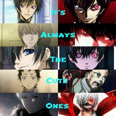 Code Geass Death Note Black Butler Deadman Wonderland Tokyo Ghoul Kaneki Ganta Ciel Light