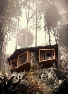 The residence Lodge Bukit Lawang is located in Sumatra, Indonesia, on a site adjacent to a sanctuary for orangutans. The customer required the house to operate as a private residence, while also providing separate accommodation for tourists. Built from locally available materials, the design is inspired by the nomadic orangutan nests built into the treetops. The design consists of separate sections of lightweight housing is located on a hillside, unified under a single roof fold.