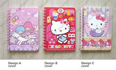 Sanrio Little Twin Stars Hello Kitty Small Wire O Notebook Pick 1 | eBay