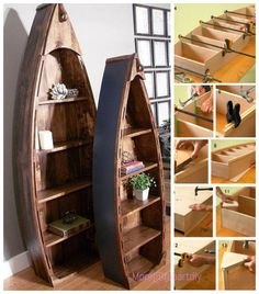 Diy Pallet Wood Boat Bookshelf Tutorial Video Pallet Home