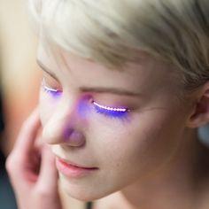 Led Flashing Eyelid False Eyelashes Cosmetic Makeup False Eyelash For Party Players And Performance False Eyelashes High Safety False Eyelashes